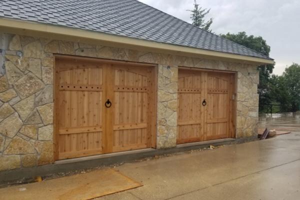 Cedar Carriage Doors